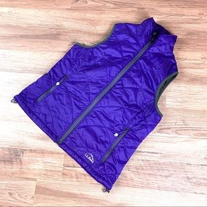 L.L. Bean PrimaLoft Packaway vest, purple, sz SP
